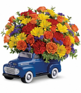 Truck full of love Birthday bouquet