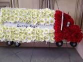 Trucker  Funeral Spray