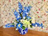 True Blue Silk Flower Arrangement