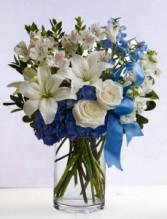 True Blue Vase Arrangement