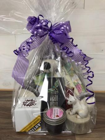 True devotion & love teddy bear gift basket Bath set, gift set