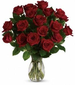 True Love Red Roses 12 rose bouquet