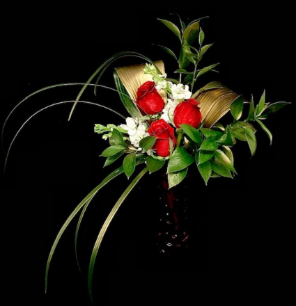 True Love Red Rose with Gold Accent