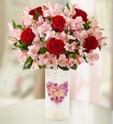 True Love Rose & Peruvian Lily Bouquet