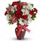 True Love(clear vase) Fresh flowers