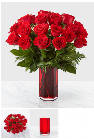 True Romance 24 Red Roses