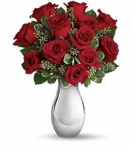 True Romance Bouquet with Red Roses roses