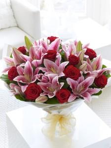 True Romance Hand Tied Bouquet