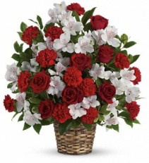 Truly Beloved Bouquet basket arrangement