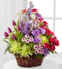 Truly Loved™ Basket basket of flowers