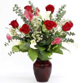 Tucker Stone Vase Arrangment