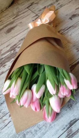 Tulip Bouquets Wrapped Arrangement in Lexington, NC | RAE'S NORTH POINT FLORIST INC.