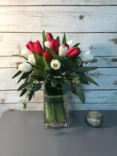 Tulip Delight Valentines Day Arrangement