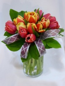 TULIP FASHION   Spring Tulips, Spring Flowers Arrangements