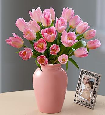 Tulip Mania Vase of assorted tulips