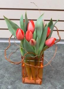 Little Honey Tulips Vase