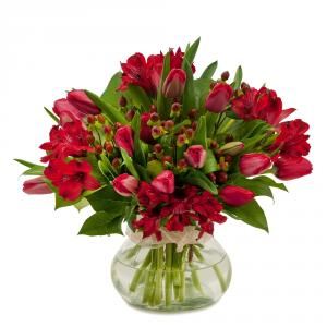 Tulip Supreme Arrangement in Naugatuck, CT   TERRI'S FLOWER SHOP