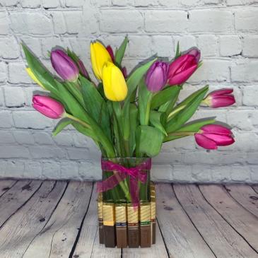 Tulip Sweets Floral Arrangement