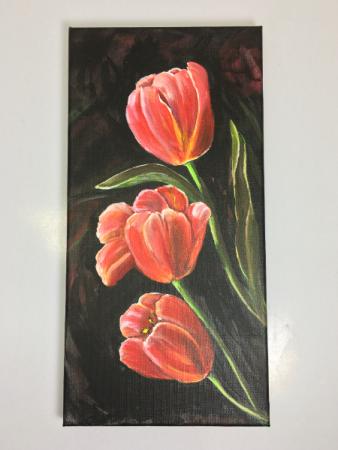Tulip Trio Acrylic Painting
