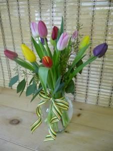 Tulip Vase Vase Arrangement in Hardwick, VT | THE FLOWER BASKET