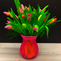 Tulip XOXO vase