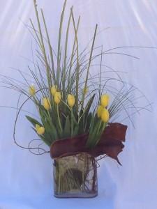 tulips stylized vase