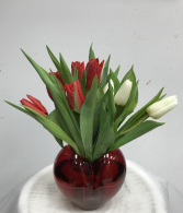 TULIPS AND A HEART FOR YOU VALENTINES