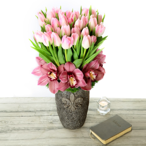 Tulips and orchids   in Ozone Park, NY | Heavenly Florist