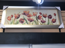 Tulips Framed on Canvas