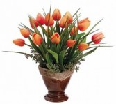 Tulips & Grass Arrangement-SILK BOTANICAL