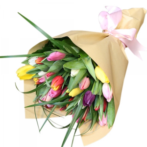 Tulips  Hand-Tied Bouquet in Chatham, NJ | SUNNYWOODS FLORIST