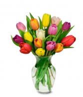 Tulips Vase Arrangement