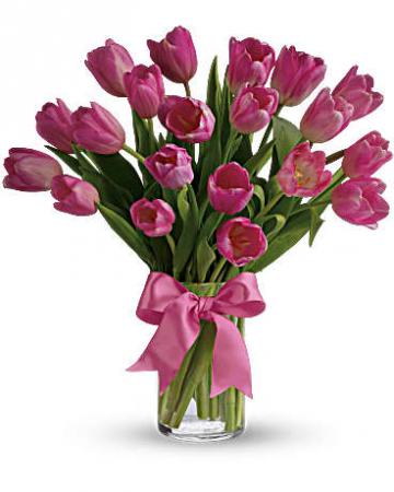 Tulips Vased Arrangement