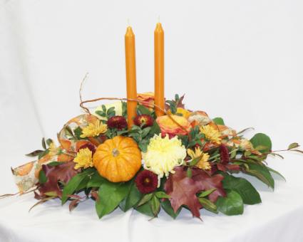 Turkey Day Centerpiece Fresh Floral Design