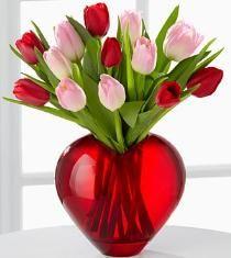 Turn Tulips Into Love Valentine Arrangement