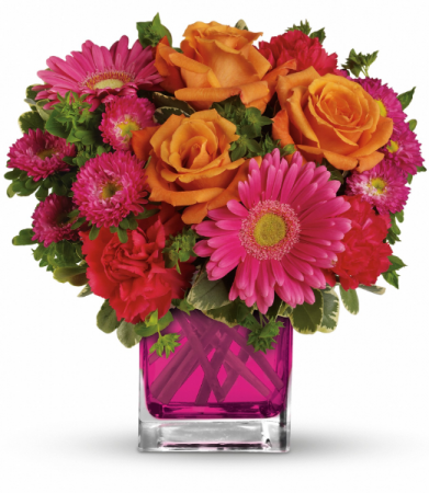 Turn Up The Pink Bouquet All-Around Floral Arrangement