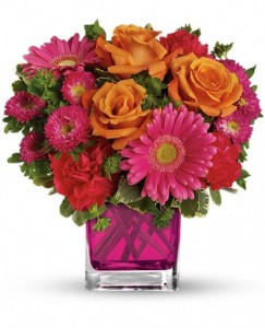 Turn Up The Pink Fresh Arrangement in Storrs, CT | THE FLOWER POT