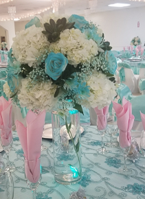 turquoise centerpieces 15 year
