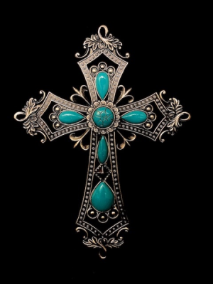 Turquoise Cross Inspirational in Plainview, TX | Kan Del's Floral, Candles & Gifts