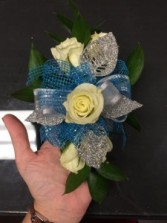 Turquoise & Silver Corsage