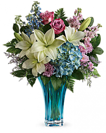 Turquoise Temptation Vased Arrangements