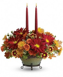 Tuscan Autumn Centerpiece Teleflora - OVEN TO TABLE BOWL!