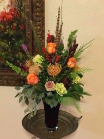 Tuscany Floral Design Vase arrangement