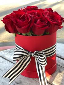 Tuxedo Roses (Red) Flower Box