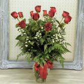 Twelve Kisses  Vased Arrangement