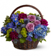 Twilight Garden Basket Floral Bouquet