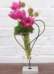 Twin heart stand Fresh Arrangement in Cincinnati, OH | Hyde Park Floral & Garden