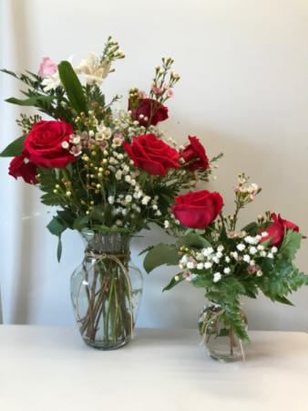 Twin Mother Daughter Arrangements Valentine Arrangement