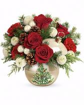 Twinkling Ornament Arrangement