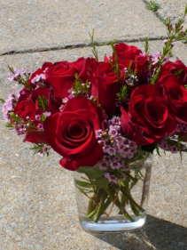 """Twisted Roses Dozen Red Roses  $35.00  10"""" tall"""